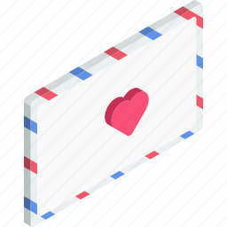 envelope, letter, love, mail, message icon
