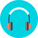 audio, head, listen, music, phone, song icon