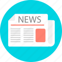 article, blog, bulletin, information, news, newspaper, text icon