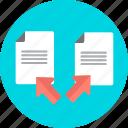 copy, data, document, paste, sheet, transfer icon