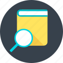 magnifier, magnify, page, search, webpage, zoom icon