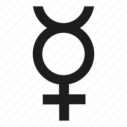 gender, hermaphrodite icon