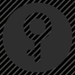 demigirl, gender, genderqueer, key, lock, sexual, transgender icon