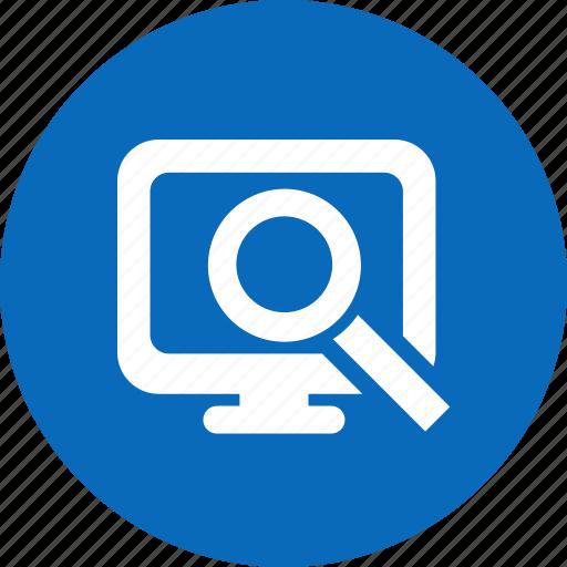 computer, search, search computer icon