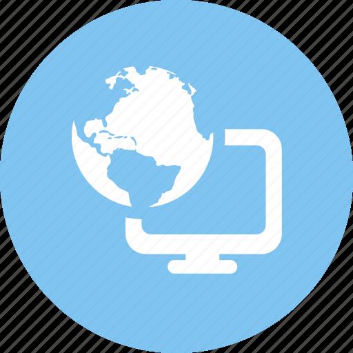 internet, network, network computer icon