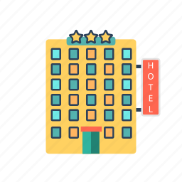 hotel, inn, lodge, lodging, travel icon