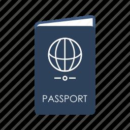 admission, identification, pass, passport, permit, ticket, travel icon