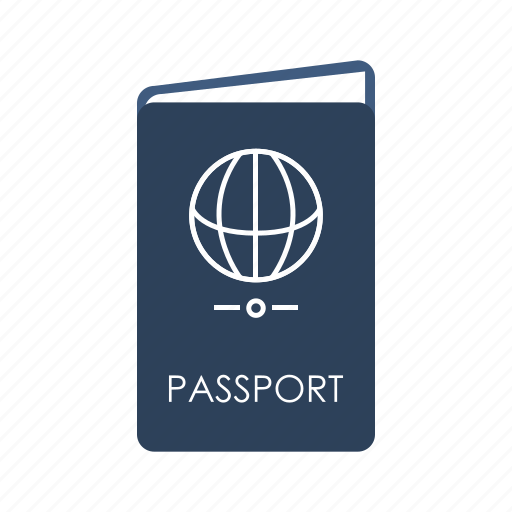 admission, identification, pass, passport, permit, ticket, travel icon