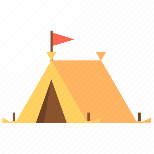 Travel tent, camping, travel, camp, canopy, tent icon