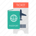 admission, label, stamp, tag, ticket, travel, travel ticket icon