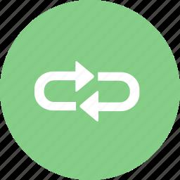 loop, loops, repeat icon