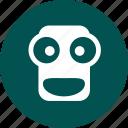 false front, guise, mask, monkey icon