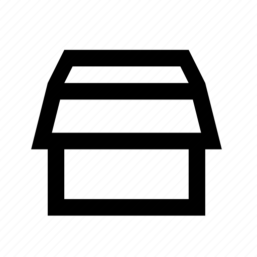 box, export, pack, package, send, unzip icon