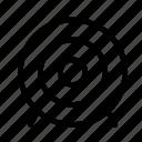 arrow, attack, bullseye, dart, target icon