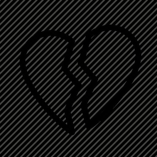 braek, heart, like, love, valentine icon