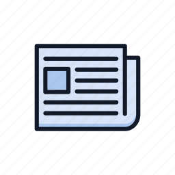 article, communication, general, media, news, newsletter, newspaper icon