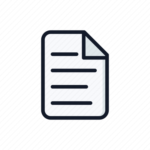 bill, blank, document, file, form, general, paper icon