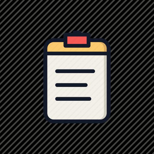 agenda, agreement, checklist, exam, general, paper, task icon