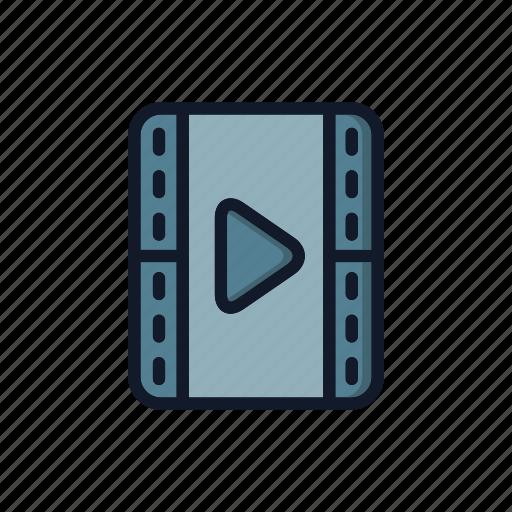 file, general, media, movie, multimedia, play, video icon