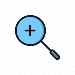close up, general, magnifier, magnify, search, zoom, zoom in icon