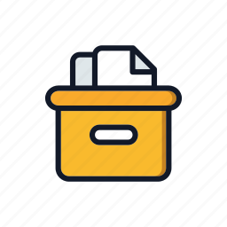 box, cardboard, carton, document, general, package, packing icon