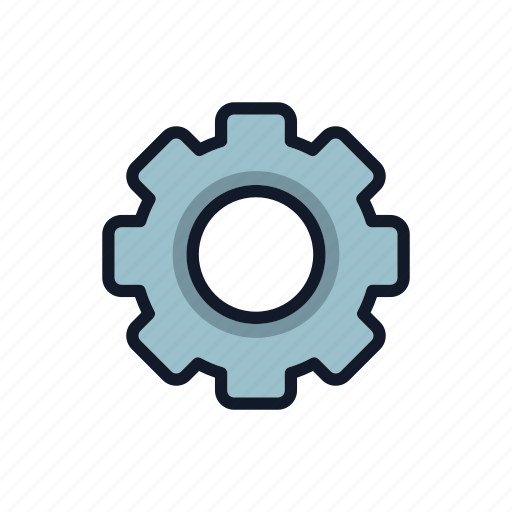 factory, gear, general, machinery, mechanism, setting, work icon
