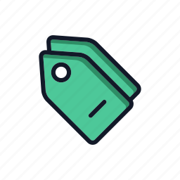 commercial, general, price, price tag icon