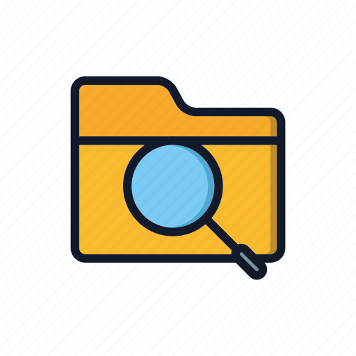 folder, general, search, zoom icon
