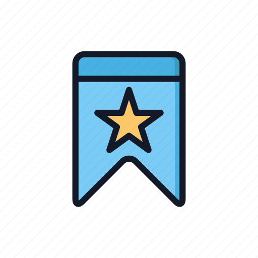 bookmark, favorite, general, ribbon, web icon