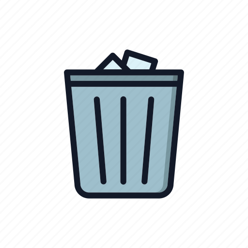 basket, clean, delete, general, junk, recycle, trash can icon