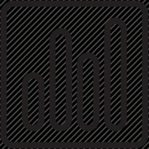 bar, bar chart, charts, general, graph, line, statistics icon