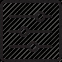 adjustment, ajdustable, general, line icon