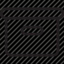 box, carton, general, line icon