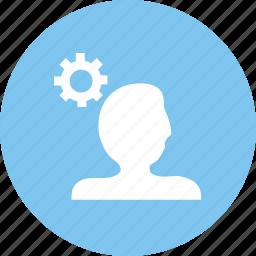 account, account configure, options, setting icon