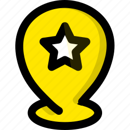 favorites, location, map, navigation icon