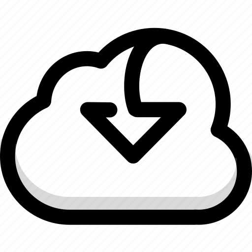 cloud, data, download, storage icon