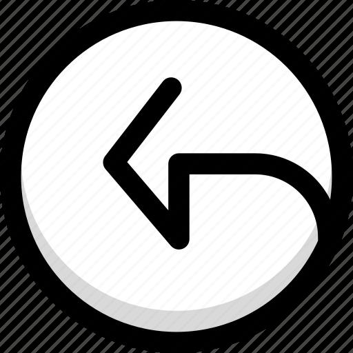 back, previous, rewind, undo icon