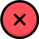 cancel, close, delete, exit, remove, trash icon