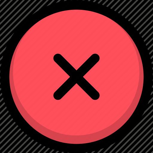 cancel, close, delete, exit, remove, trash icon