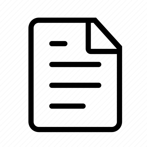 document, file, music, page, paper icon