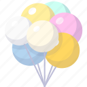 ball, balls, holiday icon