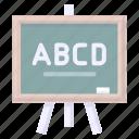 blackboard, study, whiteboard icon