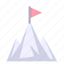 mountains, peak, scenery icon