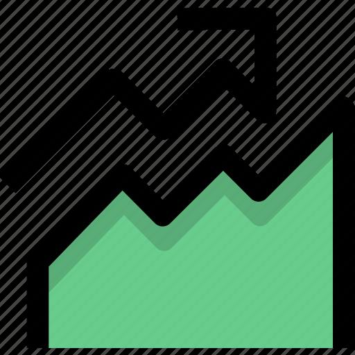 analysis, analytics, diagram, finance, graph, statistics, visits icon