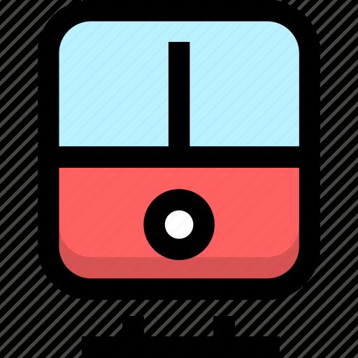 railway, subway, train, tramway, transport, transportation icon