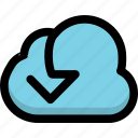 cloud, download, storage icon