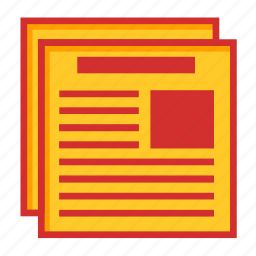 article, data, document, feed, files, news, newspaper, page icon