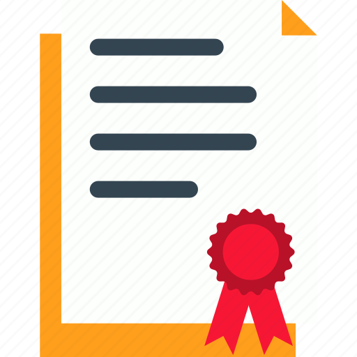 certificate, document, file, legal, paper, sheet icon
