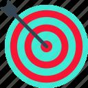 aim, arrow, goal, target, vision icon