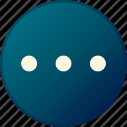hiden, menu, more, settings icon